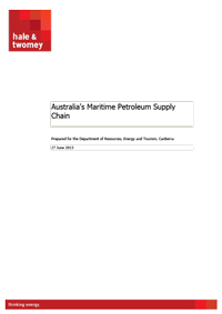 Report into Australia's Maritime Petroleum Supply Chain