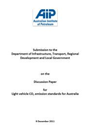Submission on Discussion Paper for Light vehicle CO2 emission standards for Australia