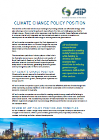 AIP Climate Change Policy Position 2020