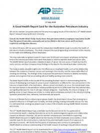 Media Release - Health Watch 15th Report